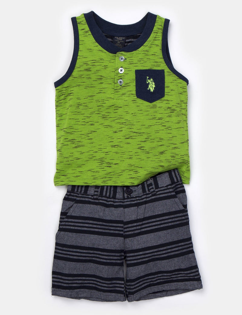 Toddler Boys 2 Piece Tank & Short Set