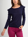 RUFFLE TRIM SWEATER - U.S. Polo Assn.