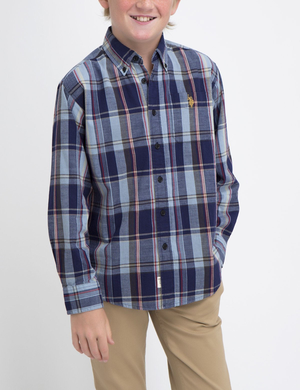BOYS PLAID SHIRT