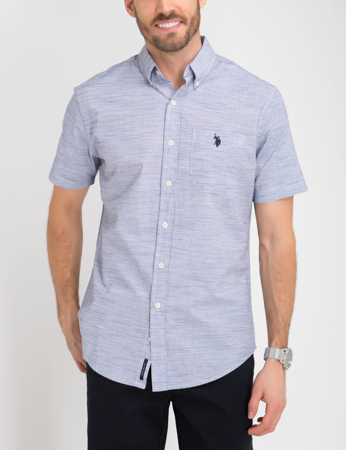 CLASSIC FIT COTTON POPLIN SHIRT