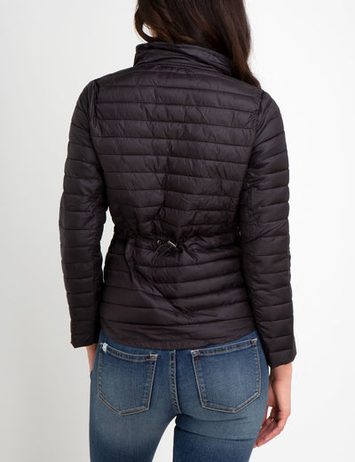 LIGHTWEIGHT PUFFER JACKET WITH BACK DRAW CORD - U.S. Polo Assn.