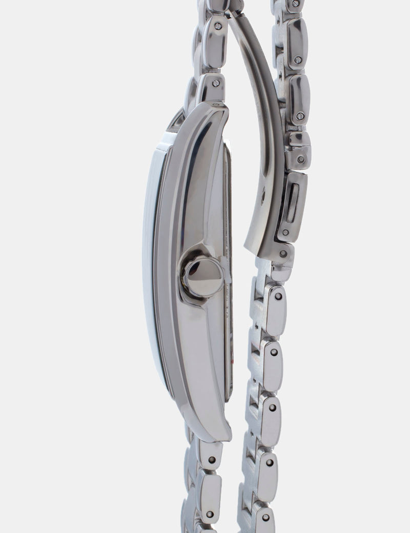 CHAIN STRAP WATCH WITH BLUE FACE