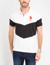 SLIM FIT PIQUE CHEVRON POLO SHIRT - U.S. Polo Assn.