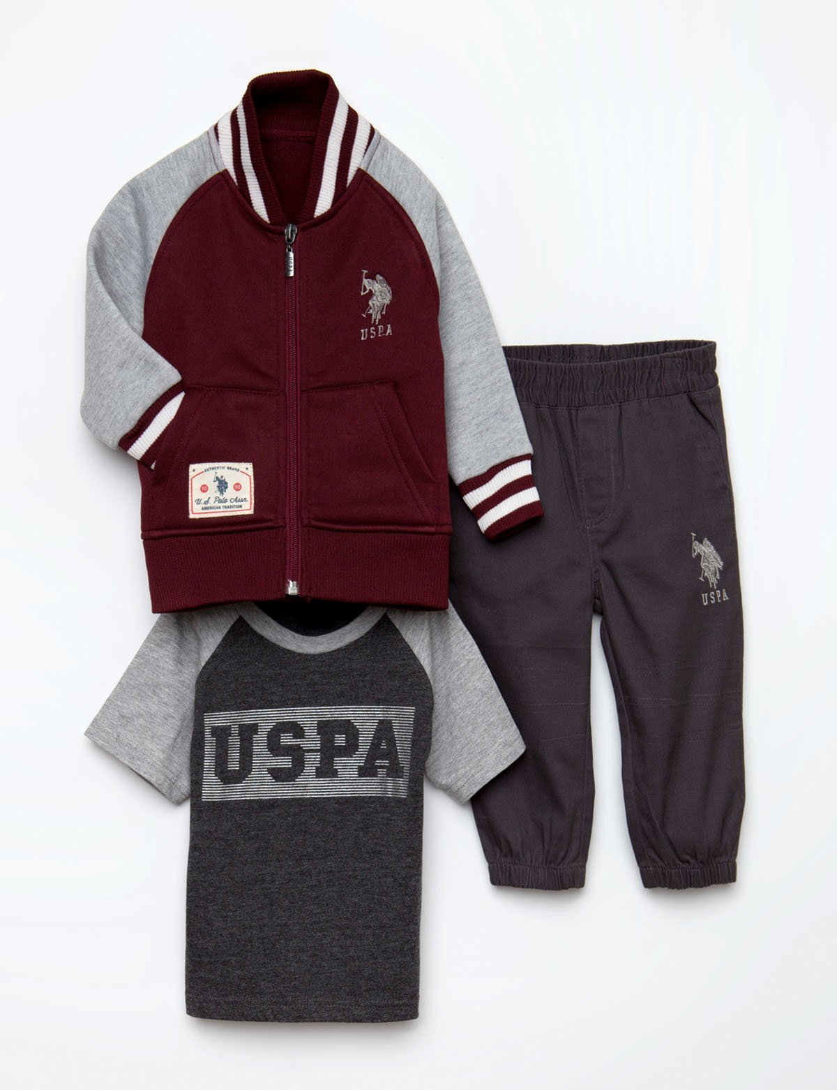 BOYS 3 PIECE SET - FLEECE, TEE & PANTS