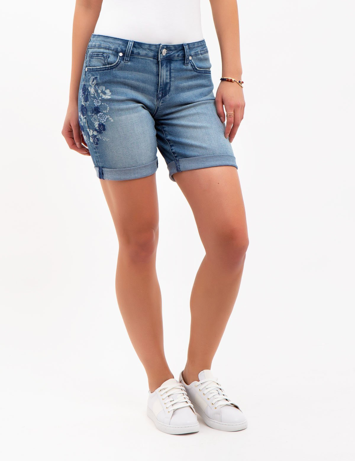 EMBROIDERED DENIM SHORTS - U.S. Polo Assn.