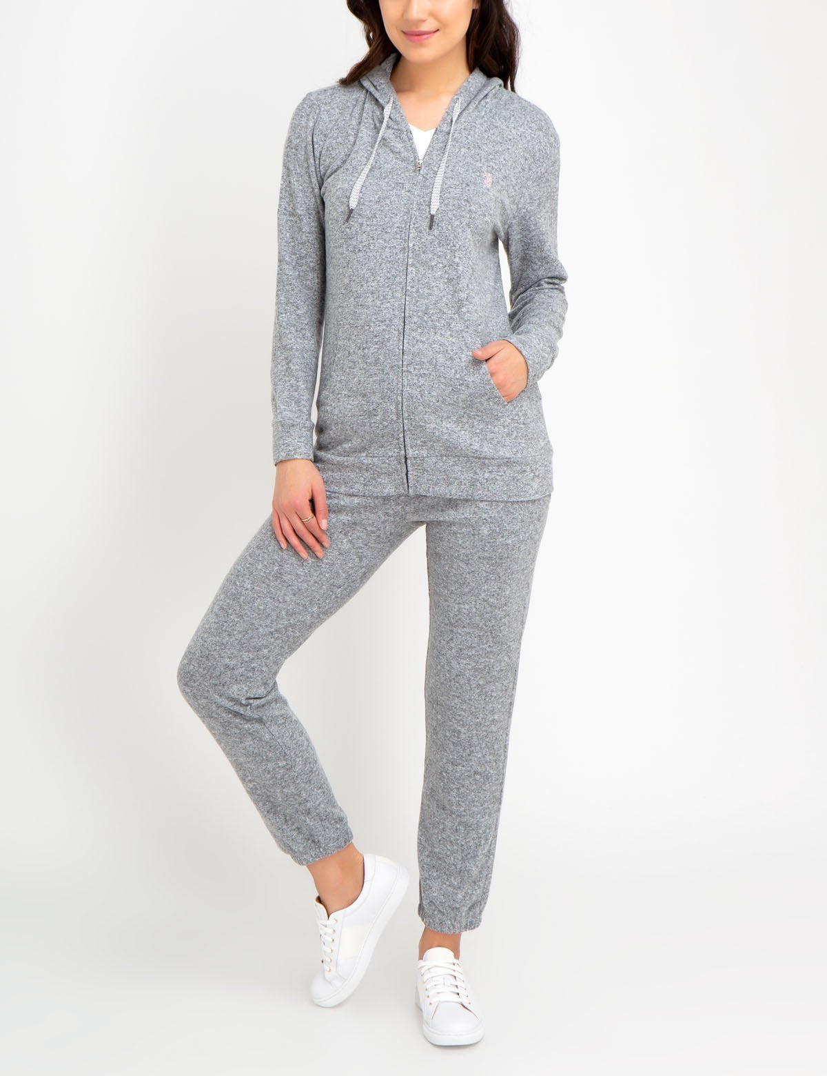 shop for best durable in use presenting Polo Hoodie And Sweatpants Set Womens