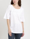 LACE YOKE FLUTTER SLEEVE TOP - U.S. Polo Assn.