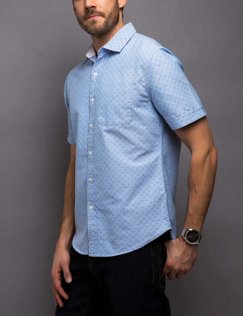 Black Mallet Slim Fit Oxford Shirt