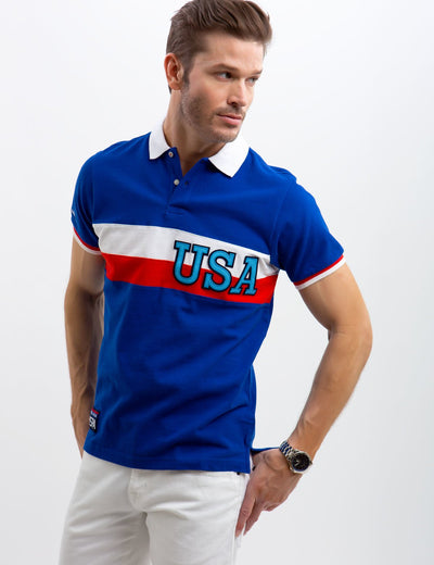 USA CHEST STRIPED POLO SHIRT - U.S. Polo Assn.