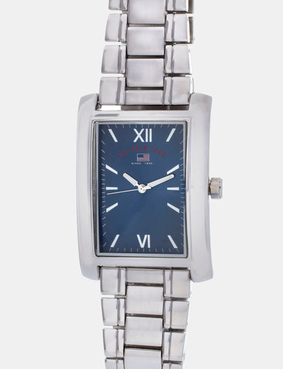 CHAIN STRAP WATCH WITH BLUE FACE - U.S. Polo Assn.