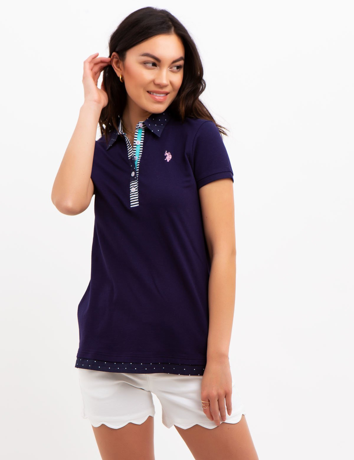 DOT COLLAR POLO SHIRT - U.S. Polo Assn.
