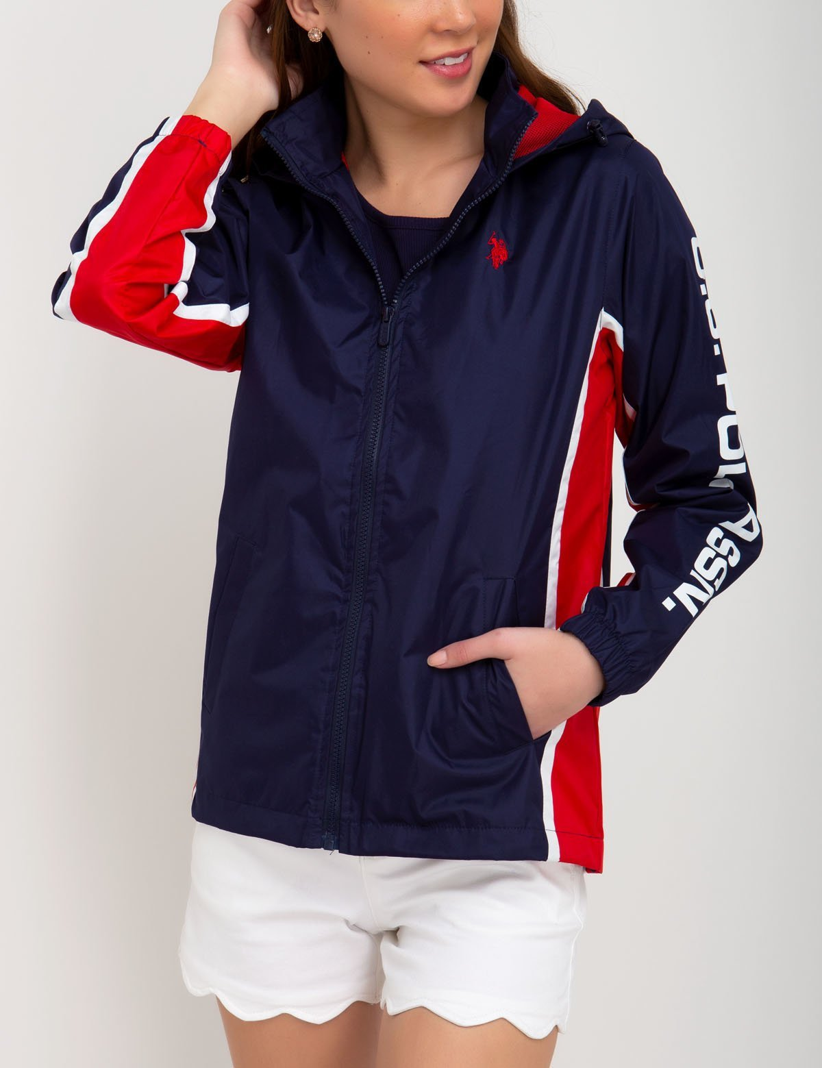 U.S. Polo Assn. Hooded Windbreaker
