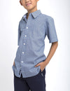 BOYS GEOMETRIC PRINTED SHIRT