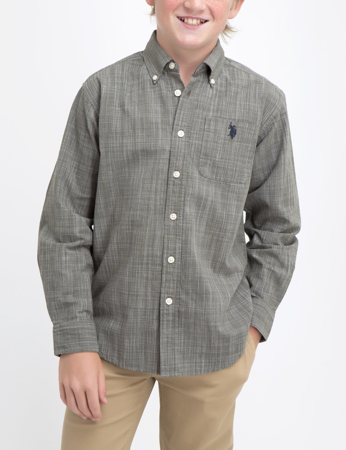 BOYS DOBBY SHIRT - U.S. Polo Assn.