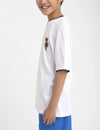 Boys Crew Neck Multi-Color Logo Tee