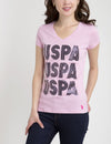USPA TRIO V-NECK T-SHIRT
