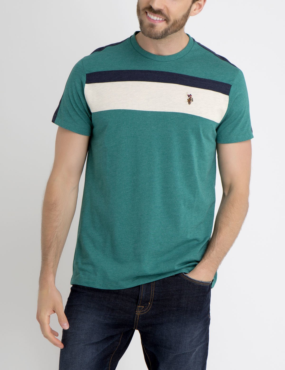MULTI CHEST STRIPED T-SHIRT - U.S. Polo Assn.