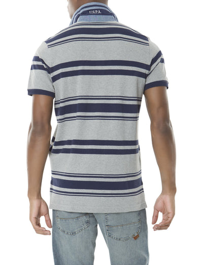 YARN DYED PIQUE PATCH STRIPE POLO SHIRT - U.S. Polo Assn.
