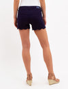 SCALLOPED HEM SHORTS