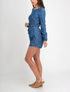 LIGHTWEIGHT DENIM LONG SLEEVE ROMPER - U.S. Polo Assn.