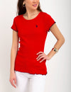 KNIT LETTUCE-EDGE TRIM TOP - U.S. Polo Assn.