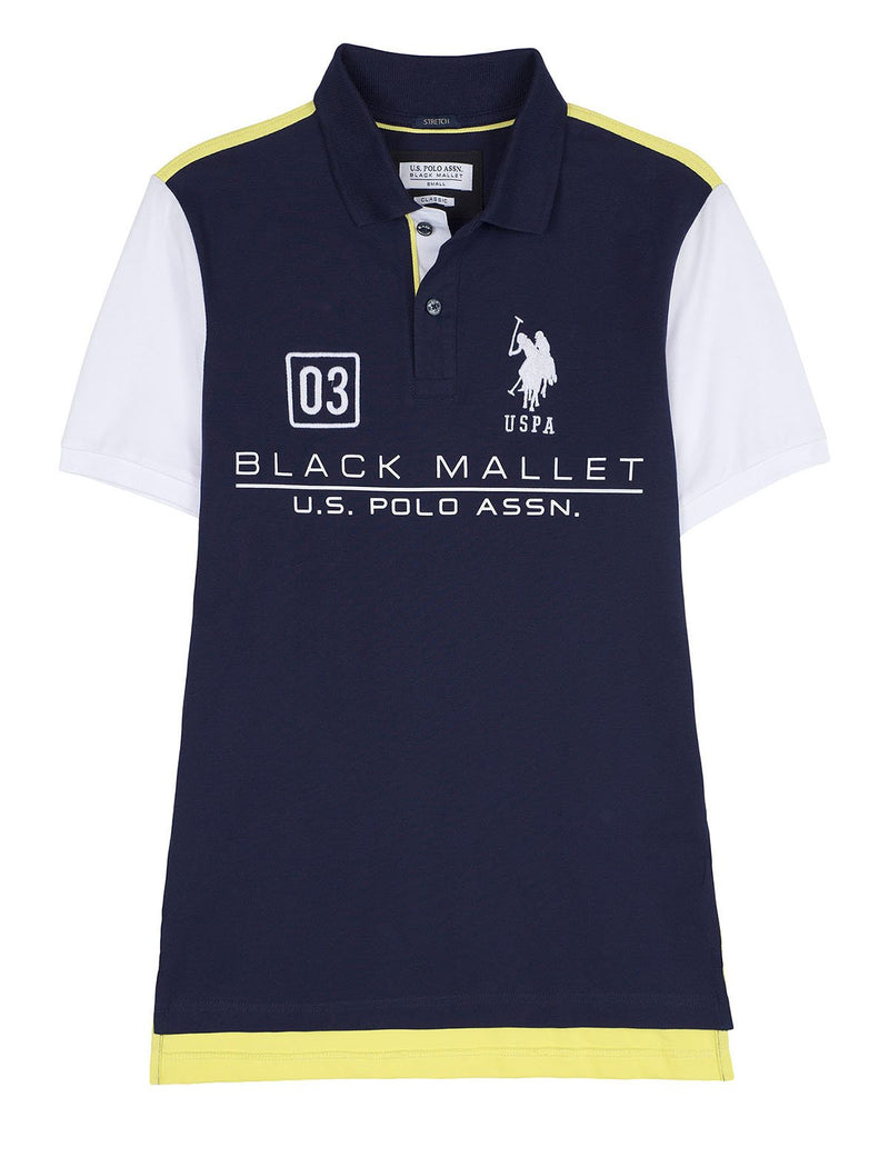 BLACK MALLET LOGO POLO SHIRT