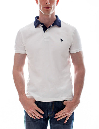 Slim Fit Pique Mesh Small Logo Polo Shirt - U.S. Polo Assn.