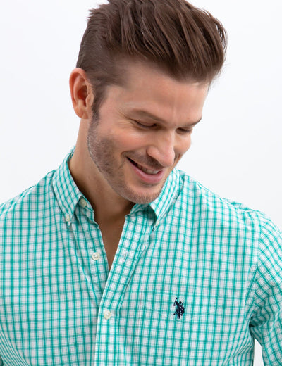 STRETCH SLIM WOVEN SHIRT
