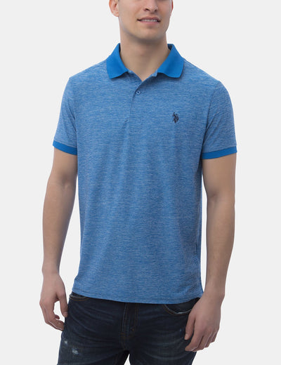SPACE DYE PERFORMANCE POLO SHIRT - U.S. Polo Assn.