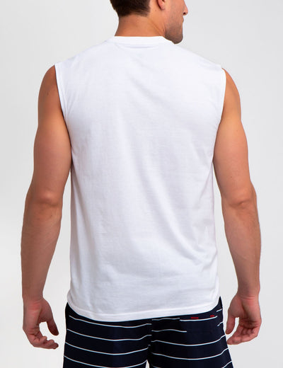 ARCHED LOGO MUSCLE TEE
