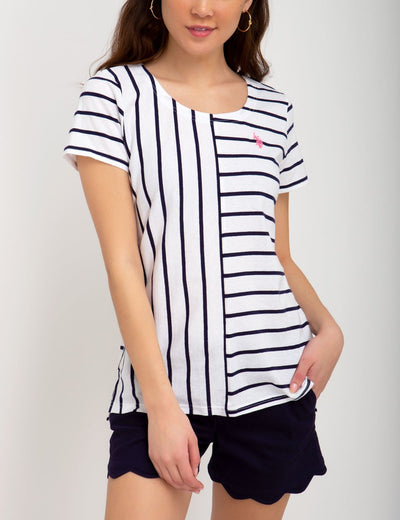 MIX STRIPED TEE