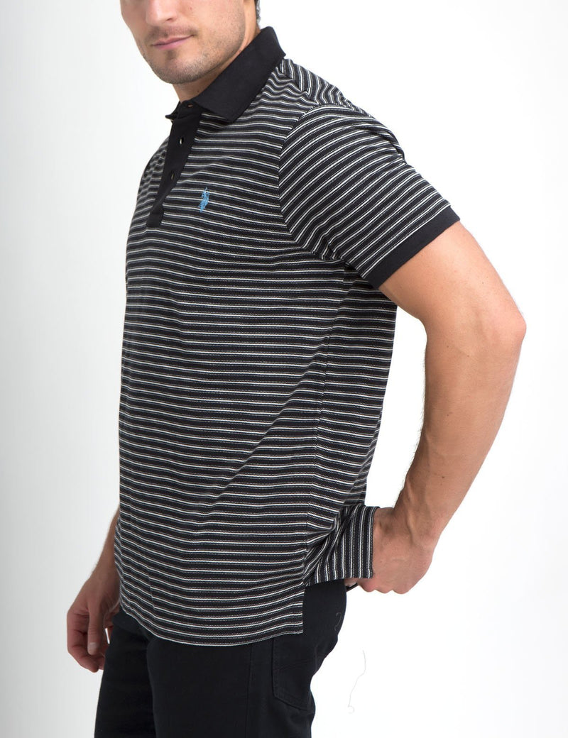 JACQUARD STRIPED POLO SHIRT