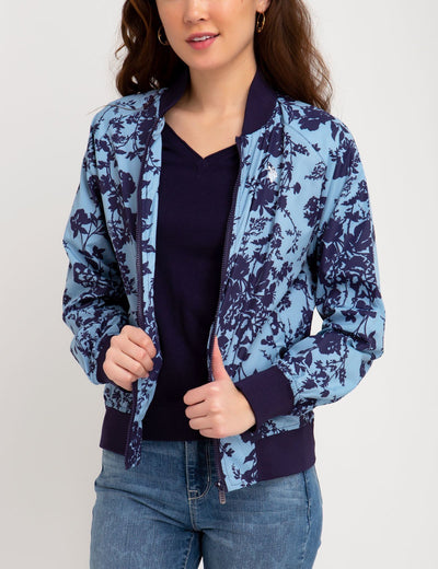 FLORAL PRINTED BOMBER