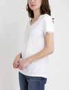 LACE SLEEVE V-NECK T-SHIRT - U.S. Polo Assn.