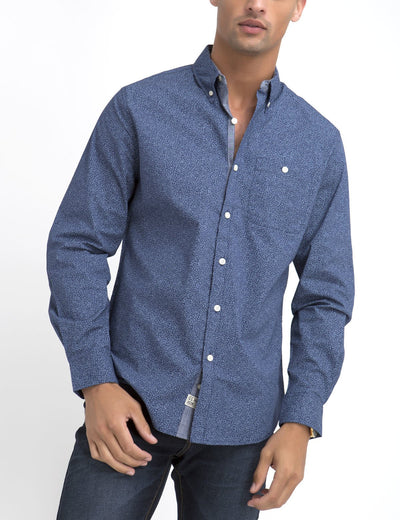 STRETCH FIT FLORAL SHIRT IN POPLIN - U.S. Polo Assn.