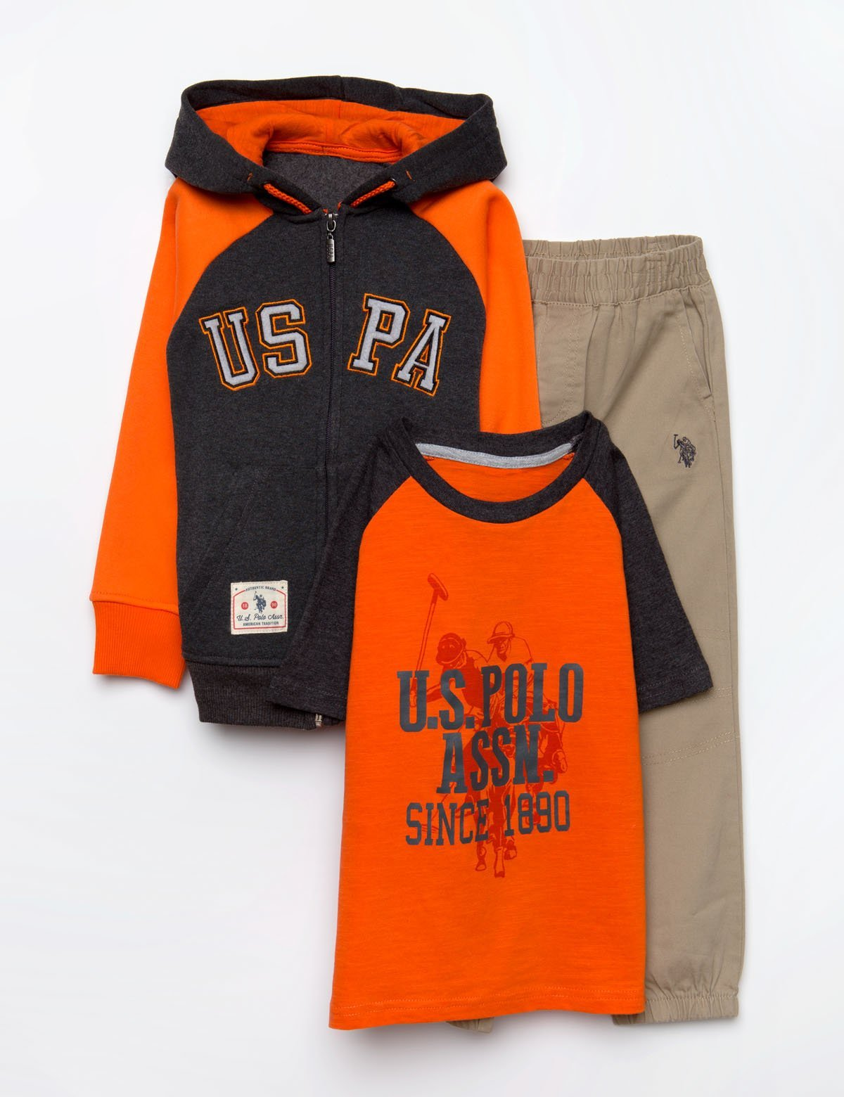BOYS 3 PIECE SET - FLEECE, TEE & JOGGERS