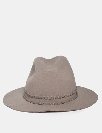 FEDORA WITH BRAIDED DETAIL - U.S. Polo Assn.