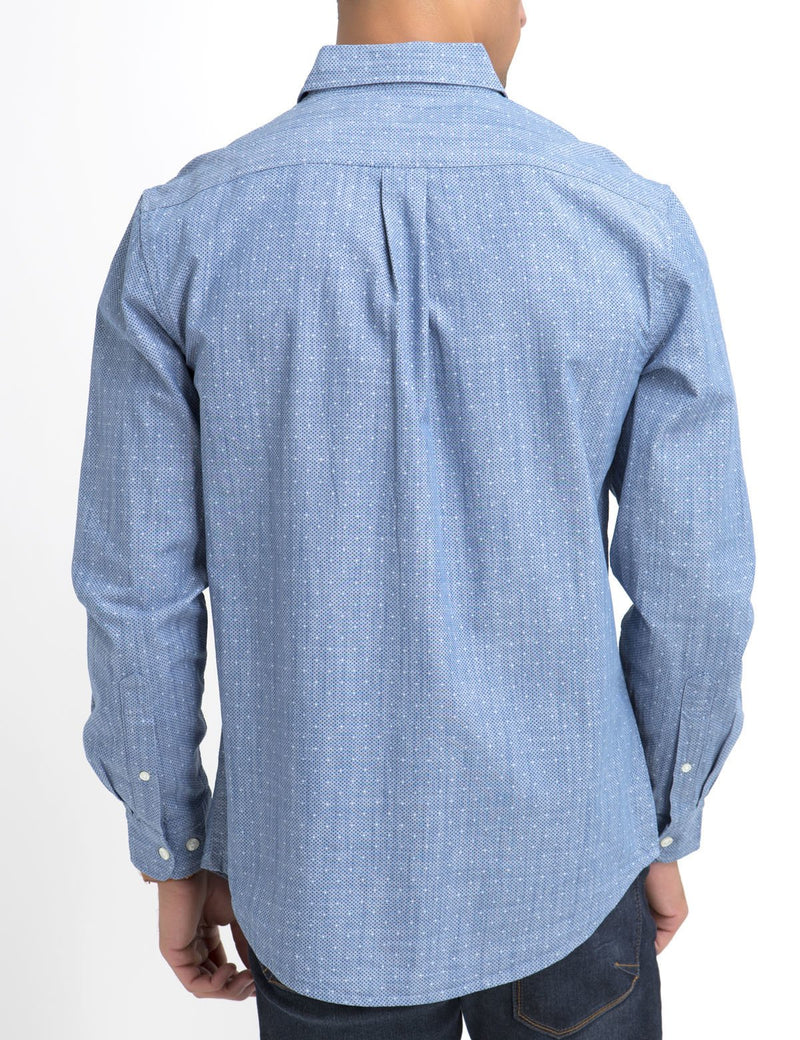 CLASSIC FIT DOT SHIRT IN CANVAS