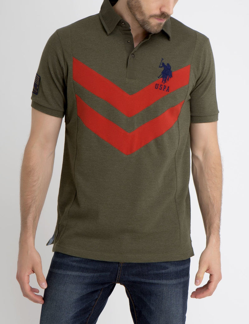 CHEVRON POLO SHIRT