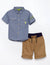 Boys 2 Piece Shirt & Drawstring Short Set - U.S. Polo Assn.