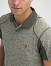 SLIM FIT SPACEDYE POLO SHIRT
