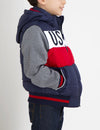 BOYS PUFFER VEST WITH SLEEVES