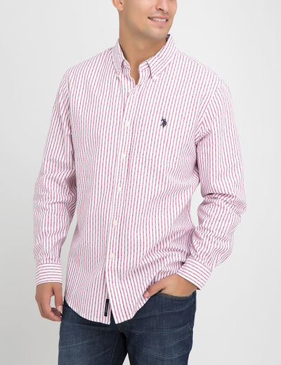 CLASSIC FIT DOBBY STRIPE SHIRT IN OXFORD - U.S. Polo Assn.