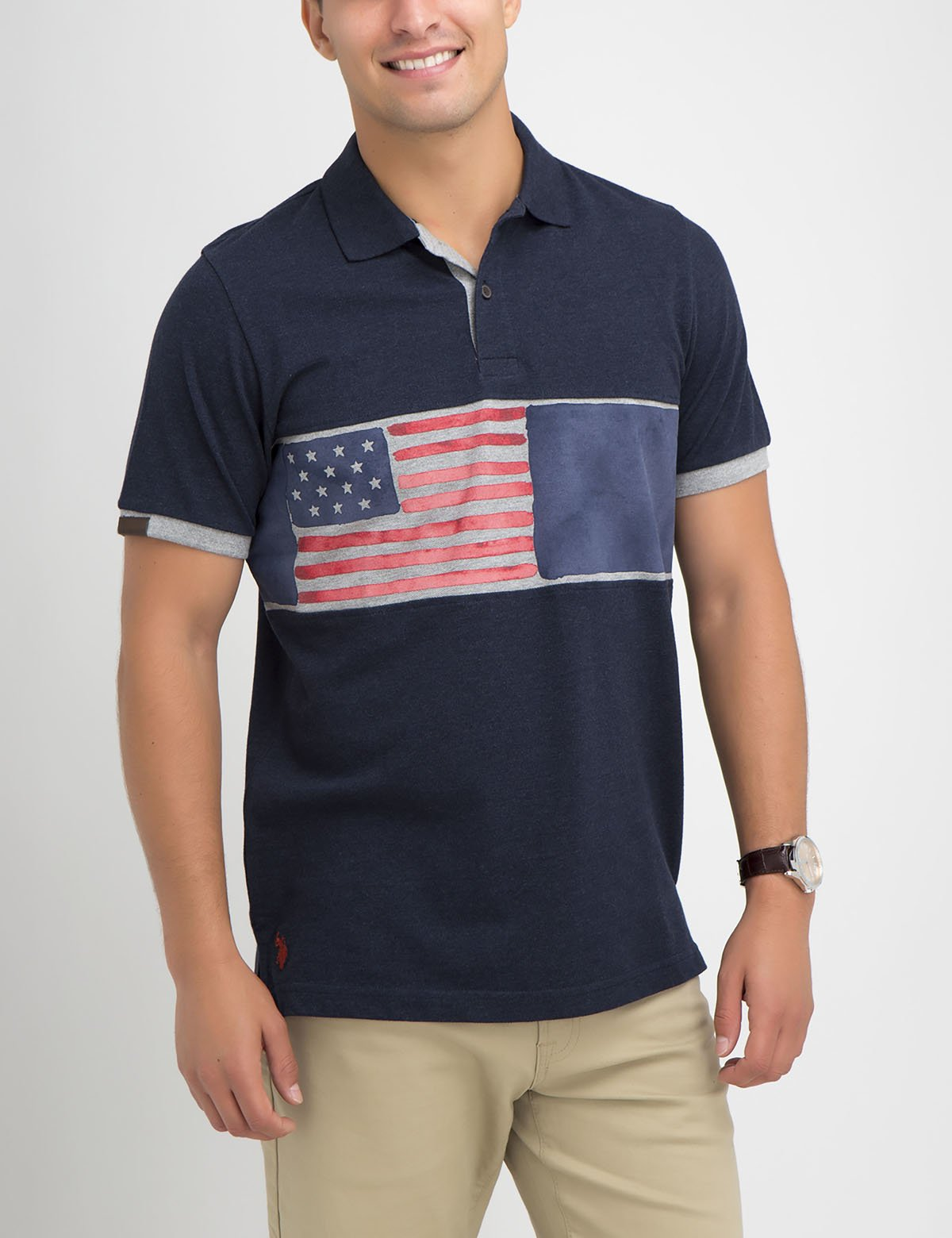FLAG PRINT POLO SHIRT