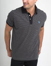JACQUARD STRIPED POLO SHIRT - U.S. Polo Assn.