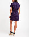 BELTED DOT PLEATED DRESS - U.S. Polo Assn.