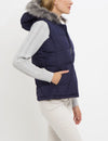 PRINCESS SEAM FUR HOOD VEST - U.S. Polo Assn.