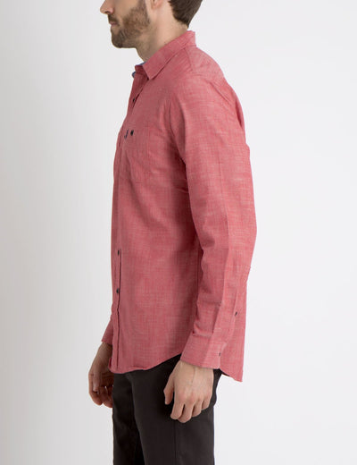 CLASSIC FIT TWO POCKET SHIRT IN CANVAS