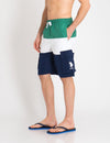 TRI-COLORBLOCK CARGO SWIM TRUNKS - U.S. Polo Assn.