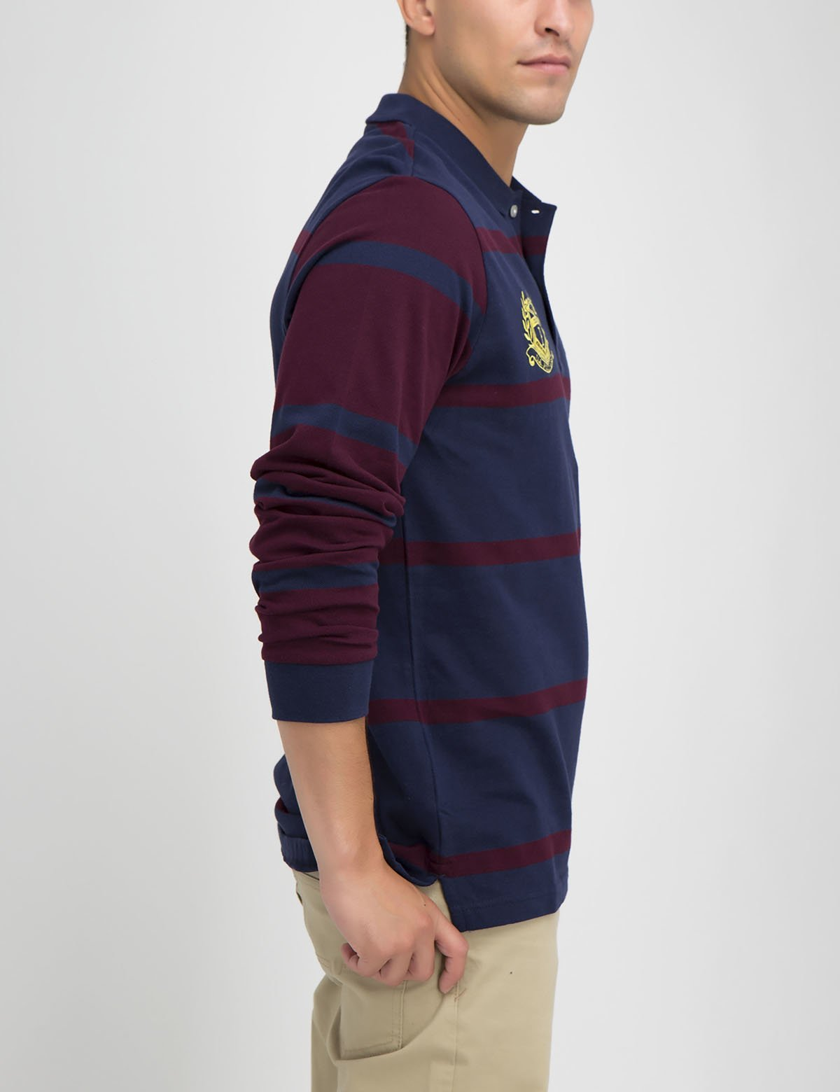 Contrast stripe long sleeve polo shirt - U.S. Polo Assn.